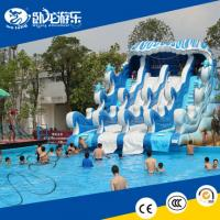 new inflatable water slide adult inflatable slide big pool water slide for sale