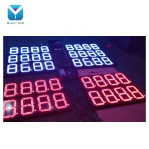 China Waterproof and 7 Segment led display and 4 digits 18 inch 88.88 8.888,8.889.8.889/10 led gas price signs on sale