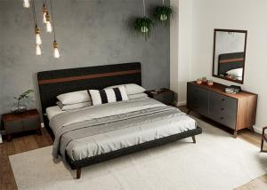 China MDF Material Contemporary Bedroom Furniture Sets Panel Wood European Style on sale