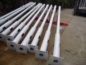 China Superior Galvanised treatment steel street light pole 8M street lamp post for sale with CE on sale
