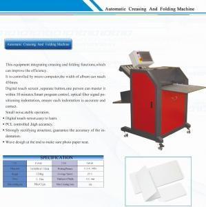 China Hardcover Paper Photo Maker Machine Creasing and Folding Equipment on sale