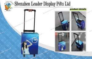 China Colorful Printed Paper Trolley With Plastic Handle for Showing Cosmetics on sale