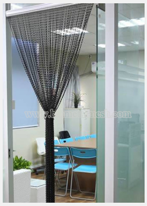 Decorative Metal Chain Fly Screen As Door Curtain For Room Divider