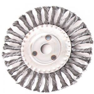 China Circular Knotted Wire Wheel Brush / Wheel Cleaning Brush Customized Size on sale