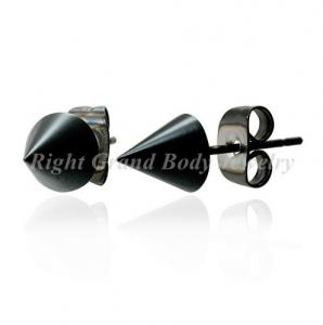 China 7mm Black Plated Spike Piercing Earrings Studs Nickel And Lead Free on sale