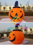 Party Decoration 0.55mm Inflatable Pumpkin Halloween With Light