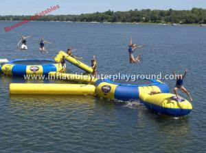 China 0.9mm Commercial Inflatable Water Trampoline Safety For Water Sports Games on sale