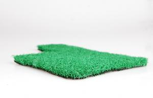 China Olive Green Polypropylene Artificial Grass Carpet For Courtyard 6mm Dtex2200 on sale