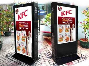 China Sunlight Readable Electronic Poster Display , Remote Control Digital Signage Stand on sale