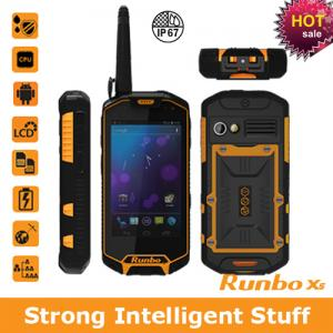 China 2013 low price Runbo X5 IP67 GPS/3G/Bluetooth/Wifi/Walkie-Talky waterproof android mobile phone on sale