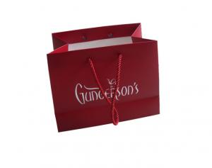 China Branded Custom Printed Paper Bags Lightweight Creative Design Red Large Capacity on sale