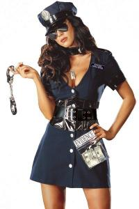 China Halloween Corrupt Cop Adult Princess Costume Sexy Police Officer Swat on sale