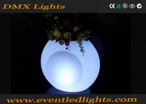 China Garden decoration Color Changing Ceramic LED Flower Pots waterproof Cool Luminous on sale