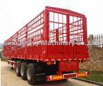 3 車軸タンク トレーラー SINOTRUK の高いコラムの黒の貨物トラックのトレーラー