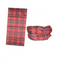 Wholesale micro-polyester checkered pattern seamless tube scarf 10pcs per order