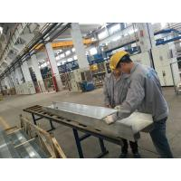 QC Checking Industrial Aluminum Extrusion Profiles with PVDF coating Surface