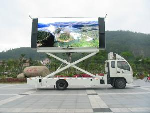 China P5 P6 P10 SMD Truck Mounted LED Display , Mobile LED Video Wall Screen on sale