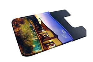 China Anti Water Silicone Card Holder Custom , Iphone Card Holder Stick On Light Weight on sale