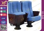 Comfortable Steel Legs Floor Mounted Church Seating Chairs , ISO9001