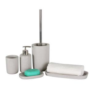 China soap dispenser, soap dish, tumbler, toothbrush holder and toilet brush holder 5 pcs. porcelain bathroom set on sale