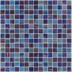 Azul de cielo oscuro con la línea decoración del oro del golpeteo de la mezcla del mosaico del vidrio de 20m m para la estructura contraria