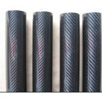 large diameter of 3k Woven Carbon Fiber Tube with glossy finished