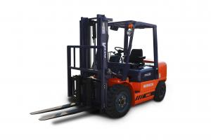China 3.5 Ton Diesel Engine Electric Forklift Truck , Forklifts Used In Warehouses on sale