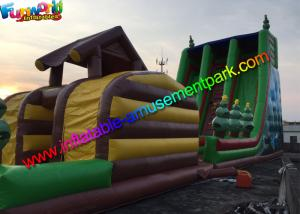China Hot Jungle Zip Line Commercial Inflatable Slide 18m x 6m x 9m Size on sale