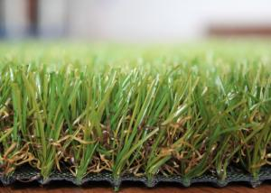 China Outdoor Landscaping Fake Grass Long Life Span Artificial Grass For Rooftop / Deck on sale