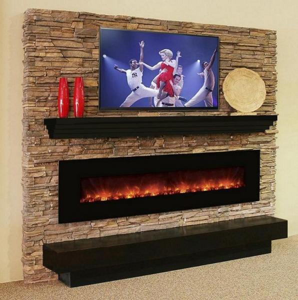 Quality Under TV style wall mounted long linear electric fireplace heater real coal log fuel multi colorful flame back light for sale - buy cheap Under TV style wall mounted long linear electric fireplace heater real coal log fuel multi colorful flame bac