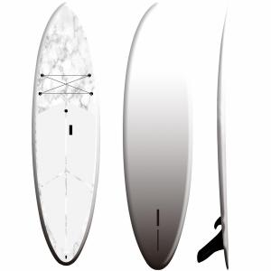 White Fiberglass EPS Inflatable SUP Board Plate Design High Stability
