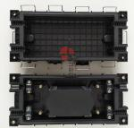 China 2In 2Out Fiber Optic Splice Closure 96 Cores Fusion Buckle Type Horizontal ABS Enclosure wholesale