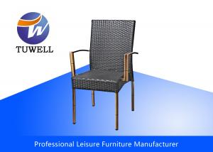 China Garden Leisure Wicker Rattan Chairs With Rustproof Durable Waterproof Stackable on sale