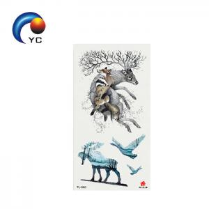 China Beauty Decal Waterproof Tattoo Sticker Cute Colored Animals Pattern Non-toxic Temporary Tattoo Sticker on sale