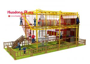 China Kindergarten Indoor Adventure Playground , Fun Indoor Playground Climbing Frames on sale