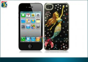 China Cut Sparkly Bling Case Rhinestone Crystal Cover, Mermaids Diamond Bling Hard Case For Iphone 4 / 4s on sale