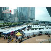 Large white aluminum and PVC 5X5m Gazebo Canopy Tent for Hongkong Dine & Wine Festival Event