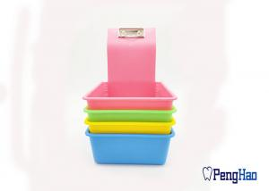 China PP Material Dental Lab Tools Lab Working Case Pan Tray Lightweight With Clip Holder on sale