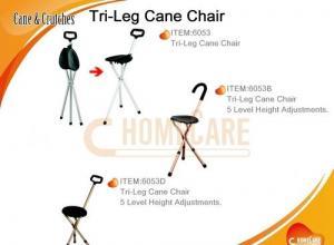 China Tri-Leg Cane Chair on sale