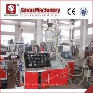 China chaîne de production de filetage ondulée à mur unique de tuyau de pe de pp tuyau faisant des machines on sale