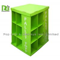 Fashion Design Full Sides Clothes / Cloth Cardboard Pallet Display , Green