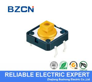 China Square Button SMD Tactile Switch 4 Pin Light Tactile Switch Through Hole Terminal on sale