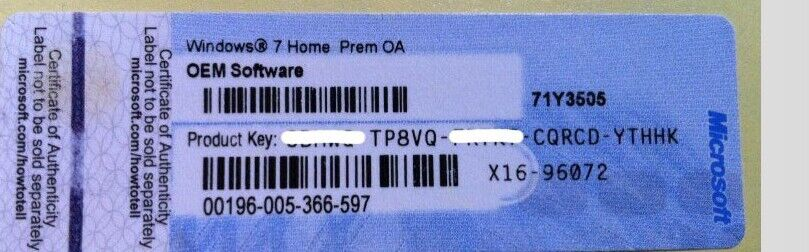 win 7 home premium key