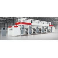 Electronic line shaft rotogravure printing machine electric drying tube 300m/min 750mm unwind/rewind 3-50kgf servo motor
