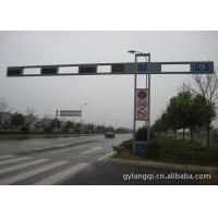 Signal Customization Traffic Light Pole Gr65 4m / 6m Galvanized Road Light Poles