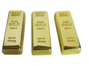 China Promotional Gifts High Speed Gold Bar Metal USB Flash Drive 16GB With USB 2.0 on sale