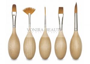 China Creative Egg Art Professional Face Painting Brushes With High Grade Vegan Taklon Hair on sale