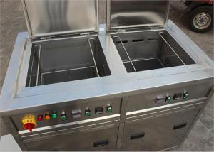 China Double Tanks Ultrasonic Cleaning Machine , Auto Ultrasonic Cleaner For Car Parts Degrease on sale