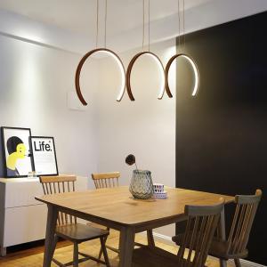 Modern Triple Pendant Light Acrylic Lampshade For Kitchen