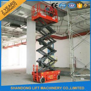 China Self - Propelled Scissor Lifts Aerial Lift Scaffolding 12 Months Warranty on sale
